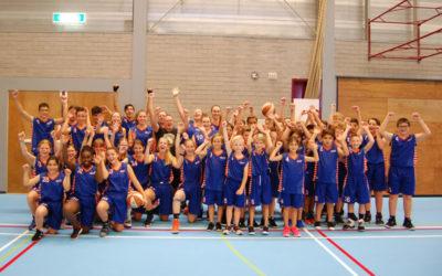 De jeugd van BC Langstraat Shooters uit Waalwijk.