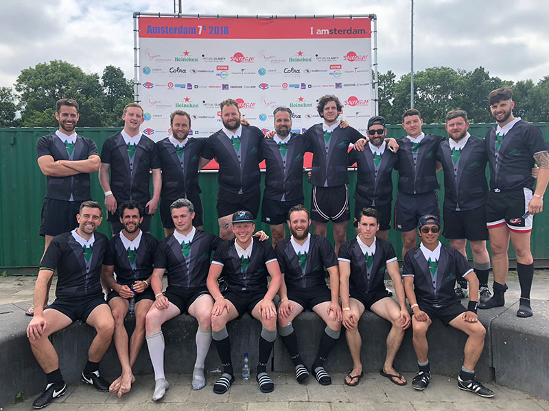 Bob the Barber op Amsterdam Sevens Rugby Tournament