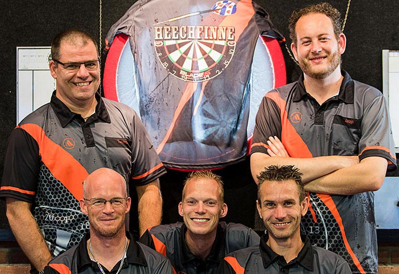 Dartclub de Heechfinne uit het Friese Ferwerd
