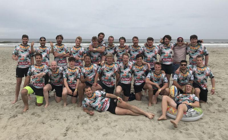 De Enschedese Rugby Club op Ameland.