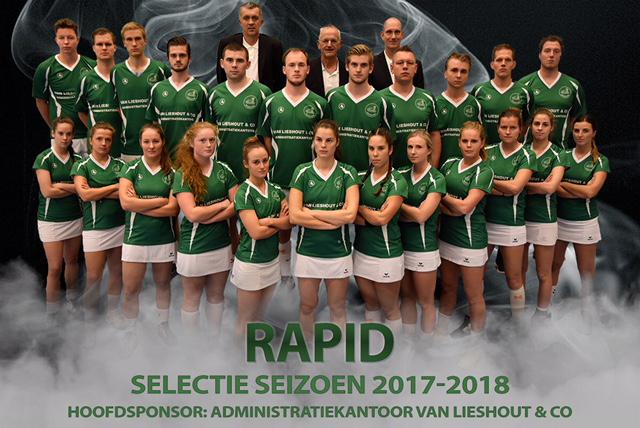 Selectie CKV Rapid in de nieuwe shirts.