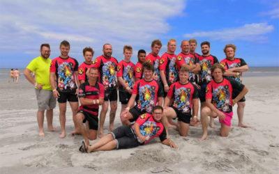 Rugbyclub Big Stones op het Ameland Beach Rugby Festival