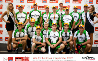 Team Dymak in Ride for the Roses!
